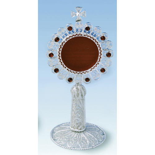 9363c8eb1ac6 Reliquary in silver 800 filigree with strass