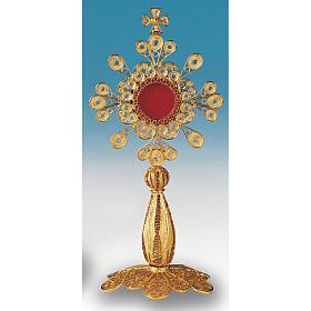 Reliquiario argento 800 dorato filigrana altezza 12 cm s2