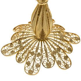Reliquiario argento 800 dorato filigrana altezza 12 cm s4