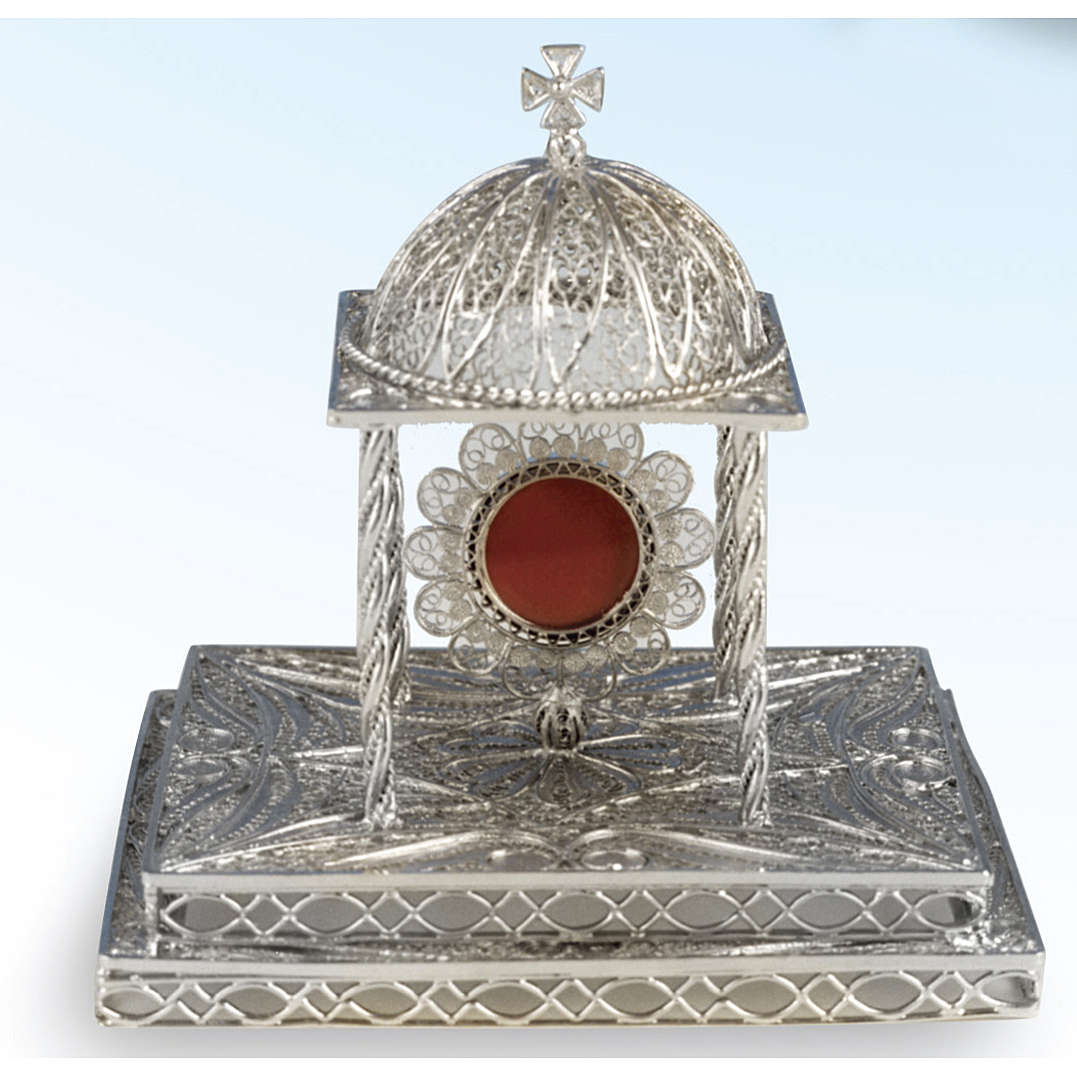 Reliquary in silver 800 with base 4