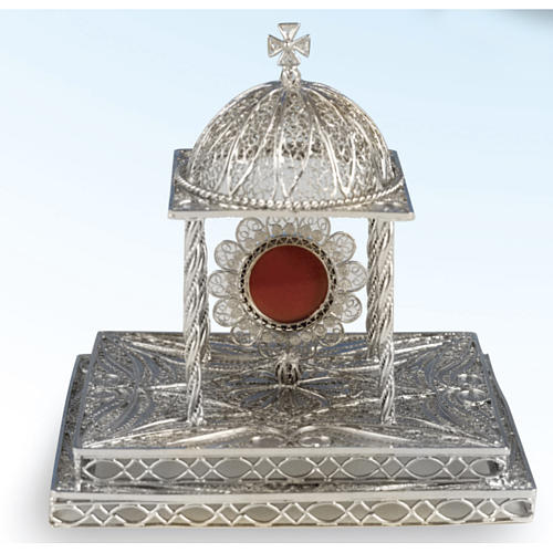 Reliquary in silver 800 with base 1