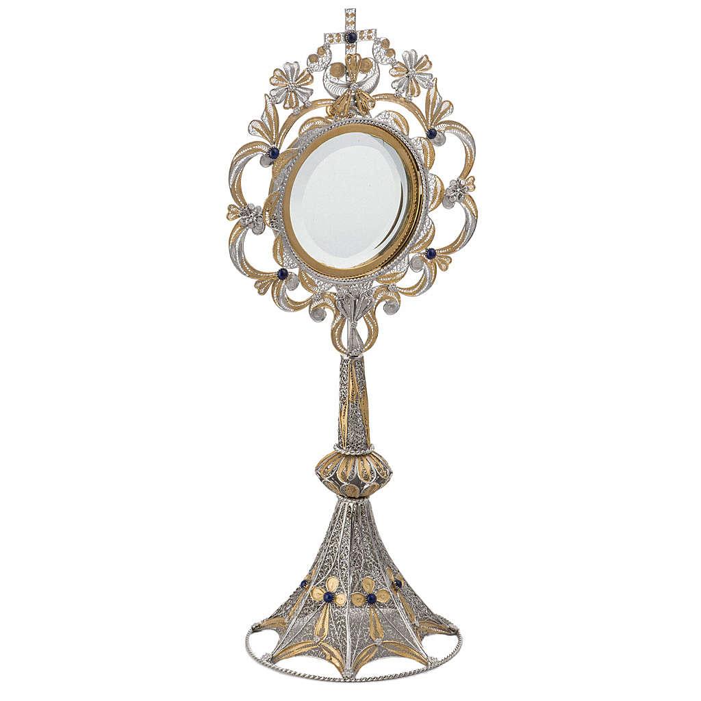 Ostensorio plata 800 luneta extraíble, 36 cm 4
