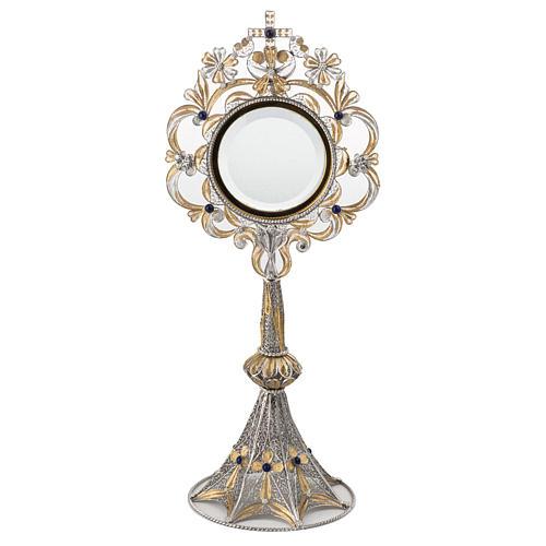 Ostensorio plata 800 luneta extraíble, 36 cm 1