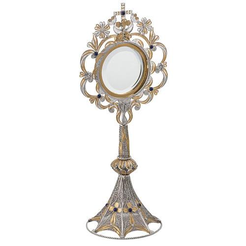 Ostensorio plata 800 luneta extraíble, 36 cm 2