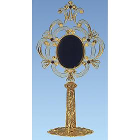 Reliquary in golden silver 800 filigree, 24 cm - 110,9 grams s1