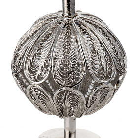 Reliquiario con croce filigrana argento 800 s4