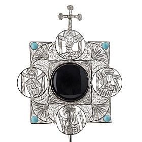 Reliquiario con croce filigrana argento 800 s5