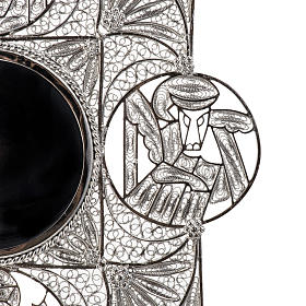 Reliquiario con croce filigrana argento 800 s6