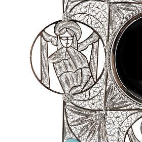 Reliquiario con croce filigrana argento 800 s8