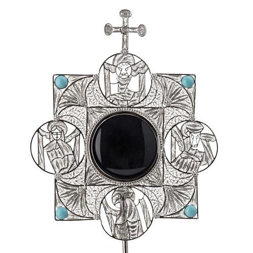 Reliquiario con croce filigrana argento 800 5