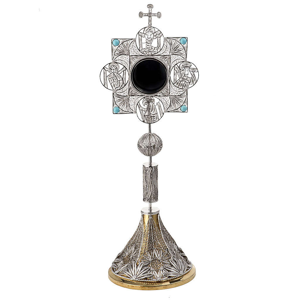 Reliquary with cross, filigree decorated 4