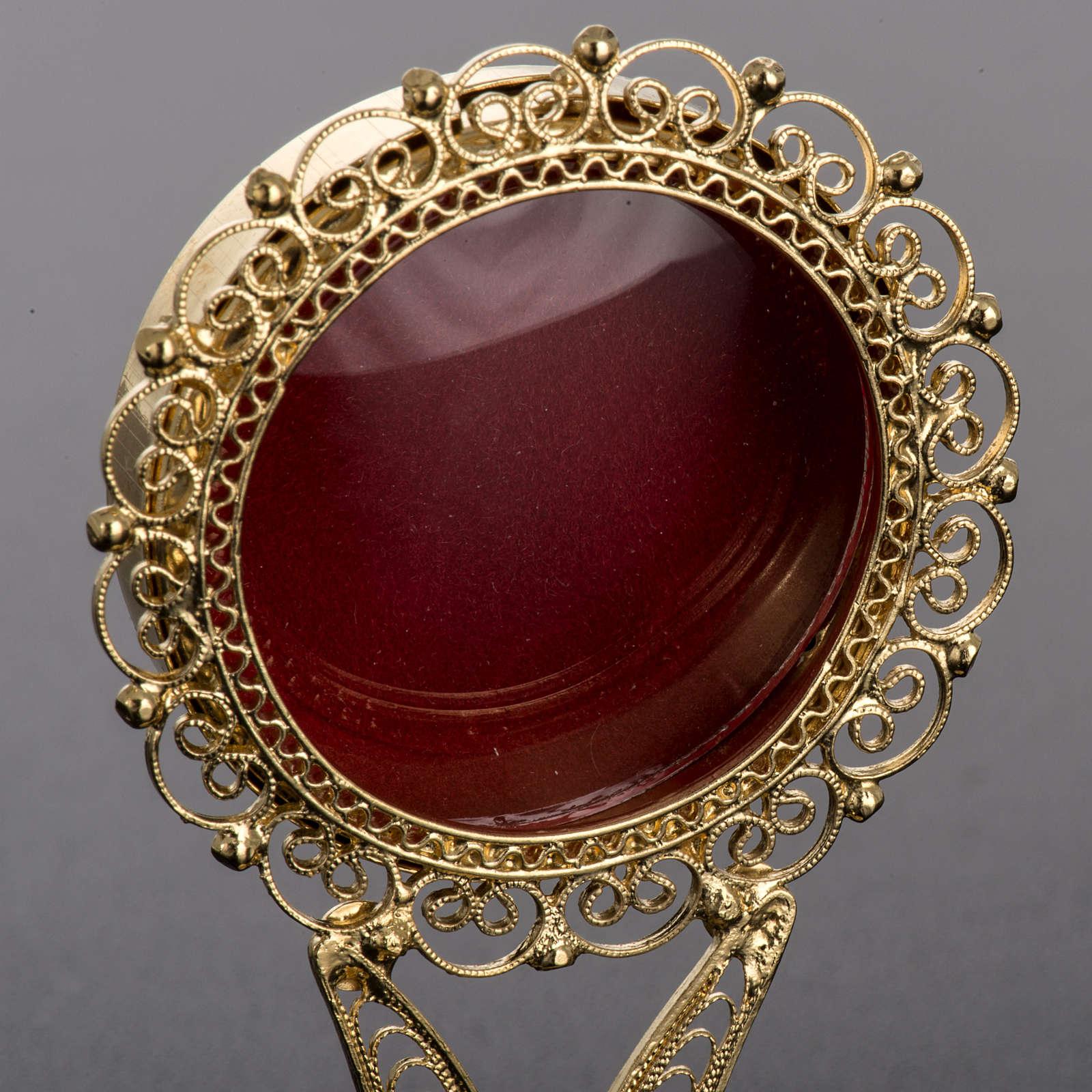 Reliquiario dorato filigrana arg. 800 4