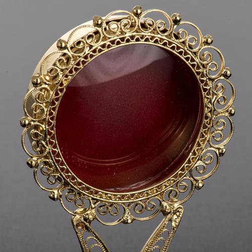 Reliquiario dorato filigrana arg. 800 3