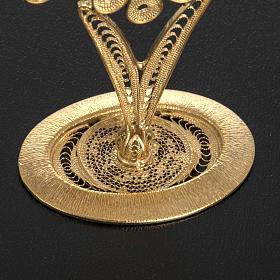 Reliquiario filigrana argento 800 petali s4