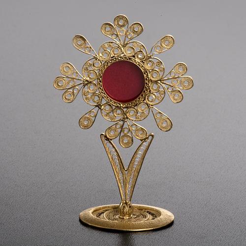 Reliquiario filigrana argento 800 petali 2