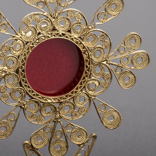 Reliquiario filigrana argento 800 petali 3