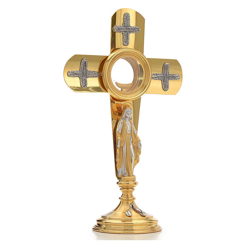 Ostensoir en forme de croix et Vierge Marie 4