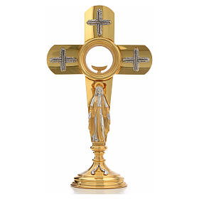 Ostensoir en forme de croix et Vierge Marie s11
