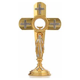 Ostensoir en forme de croix et Vierge Marie s15