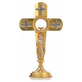 Ostensoir en forme de croix et Vierge Marie s1