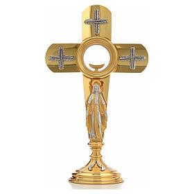 Ostensoir en forme de croix et Vierge Marie s5