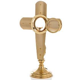 Ostensoir en forme de croix et Vierge Marie s10