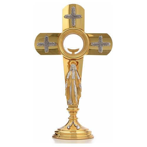 Ostensoir en forme de croix et Vierge Marie 1