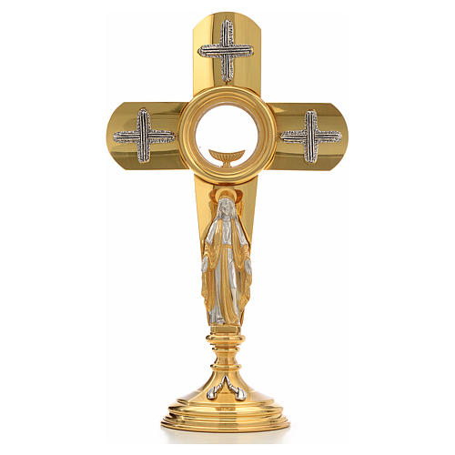 Ostensoir en forme de croix et Vierge Marie 5