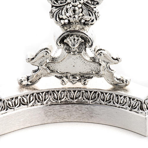 Reliquary in silver plated brass, floral decoration 3