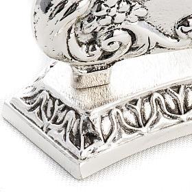 Reliquiario in ottone fuso argentato decori s5