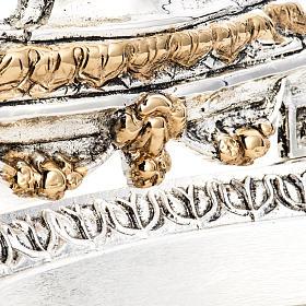 Reliquiario ottone fuso bicolore angelo fiori s7