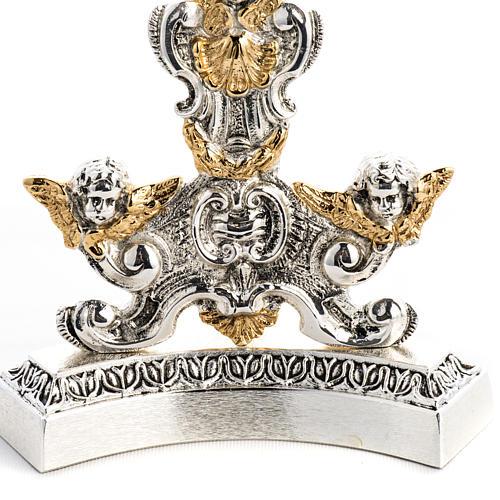 Reliquiario ottone fuso bicolore angeli custodi 3