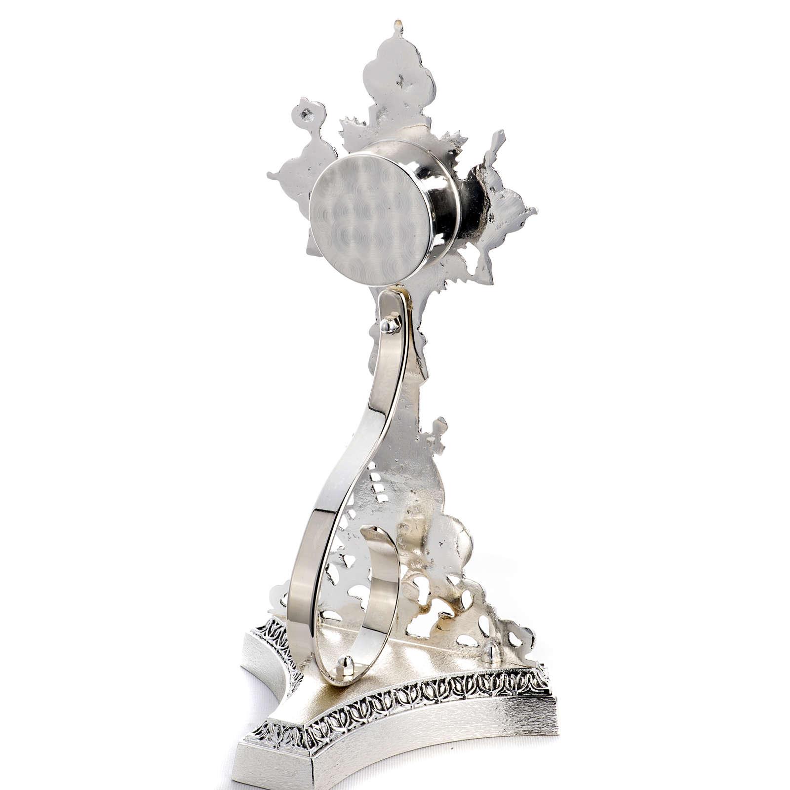 Reliquiario della Santa Croce ottone fuso 4