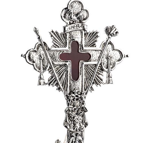 Reliquiario della Santa Croce ottone fuso 2