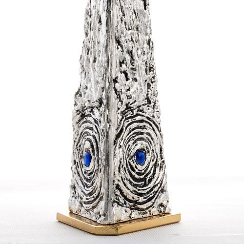 Teca ottone stilizzata pietre blu 5