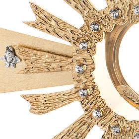 Ostensorio ottone fuso 4 angeli nodo cristallo s2