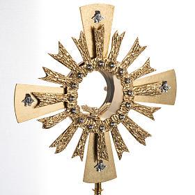 Ostensorio ottone fuso 4 angeli nodo cristallo s4