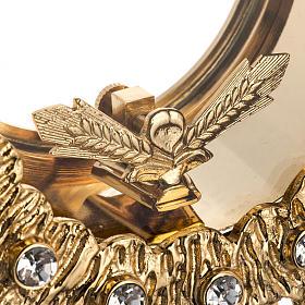 Ostensorio ottone fuso 4 angeli nodo cristallo s7