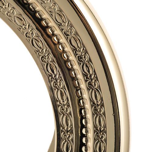 Teca semplice per ostia magna ottone fuso satinato h. 44 cm 3