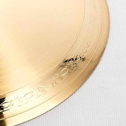 Teca semplice per ostia magna ottone fuso satinato h. 44 cm 4