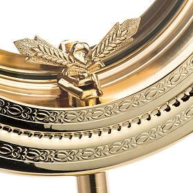 Teca semplice per ostia magna ottone fuso satinato h. 46 cm s4