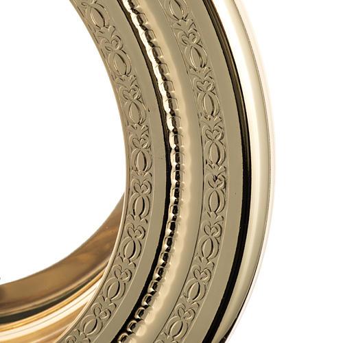 Teca semplice per ostia magna ottone fuso satinato h. 46 cm 2