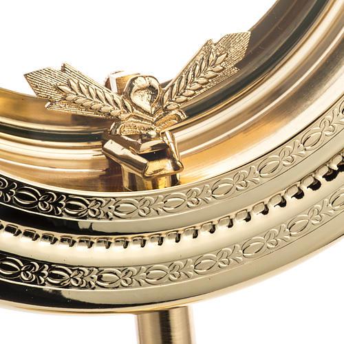 Teca semplice per ostia magna ottone fuso satinato h. 46 cm 4