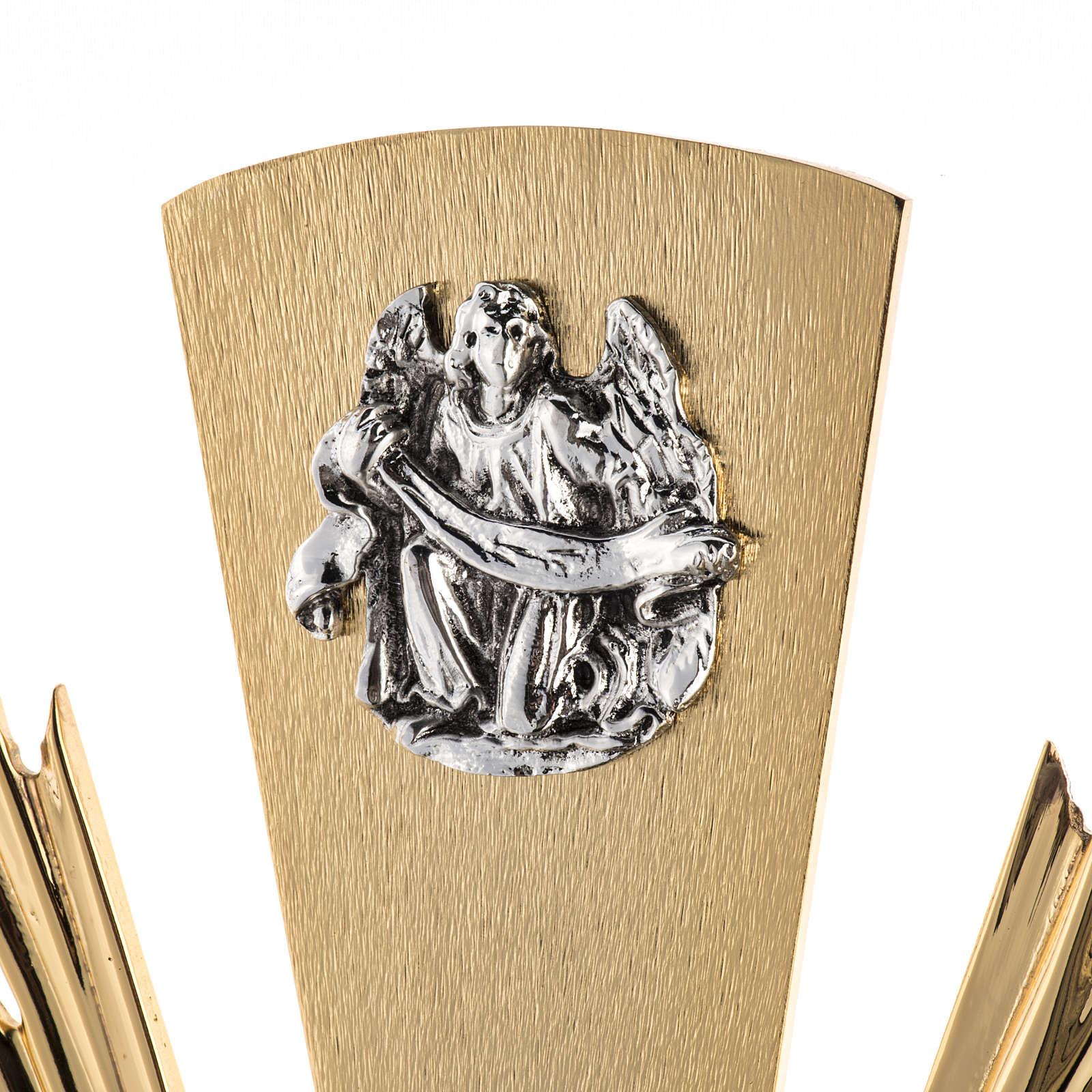 Ostensorio ostia magna 4 evangelisti nodo cristallo 4