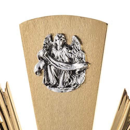 Ostensorio ostia magna 4 evangelisti nodo cristallo 2