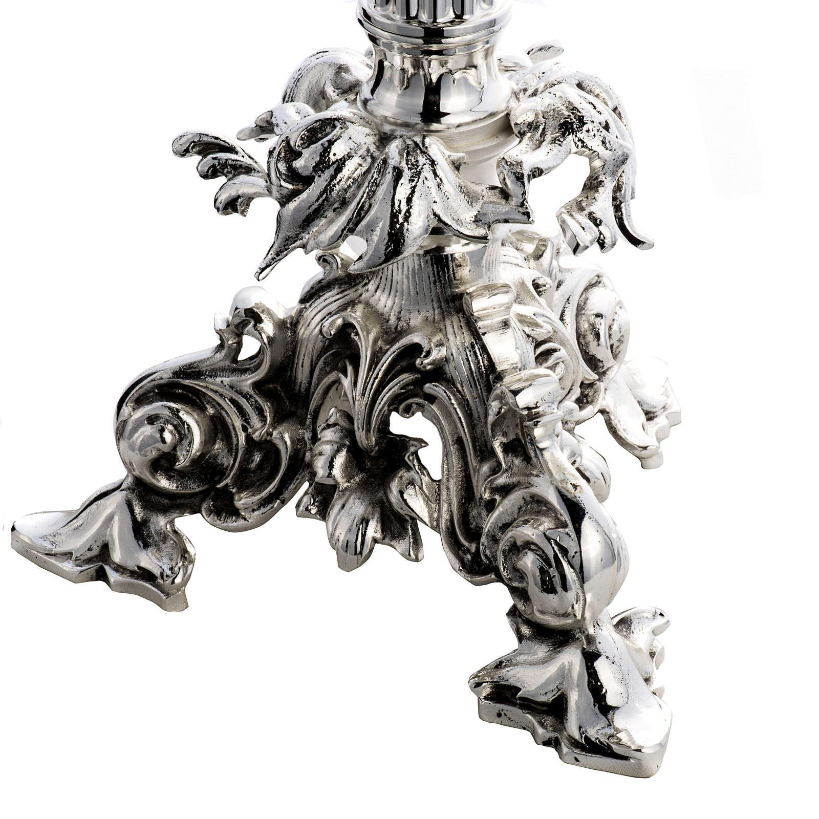 Custodia barroco hostia magna ángeles latón plateado 4