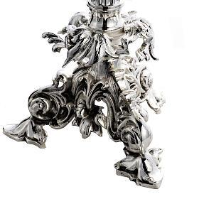 Custodia barroco hostia magna ángeles latón plateado s5