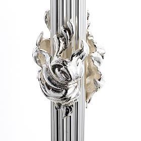 Ostensorio barocco ostia magna angeli ottone argentato s4