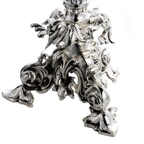 Ostensorio barocco ostia magna angeli ottone argentato 5