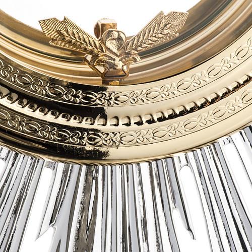 Ostensorio barocco ostia magna angeli ottone argentato 6